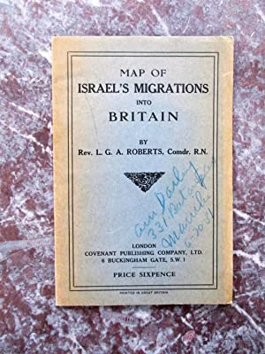 1930 MAP of ISRAEL'S MIGRATIONS INTO BRITAIN