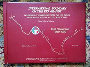 111 LARGE MAPS of the RIO GRANDE INTERNATIONAL BOUNDARY with MEXICO per the 1970 TREATY Scarce Atlas