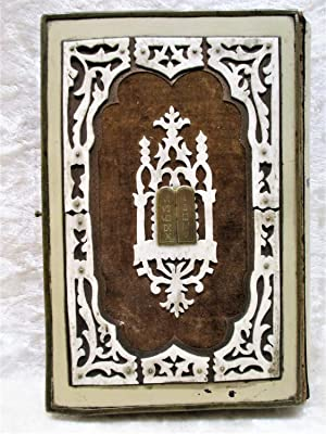 1885 JEWISH DAILY PRAYERS BOOK for GERMAN & POLISH JEWS in FINE BINDING Hebrew/English