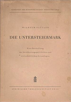 Die Untersteiermark: Sattler Wilhelm