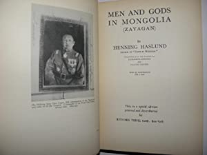 Men & Gods in Mongolia (Zayagan),: Henning Haslund; Translated by Elizabeth Sprigge & Claude ...