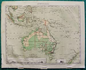 Map: Australia Physical and Political by A. Guyot 1871