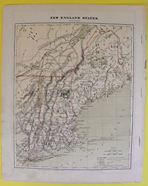 Map: US New England States by A. Guyot 1871 From Guyot¿s Geographical Series