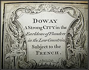 French city of Douai, with Fortifications and Military movements [18th Century European Map]: ...