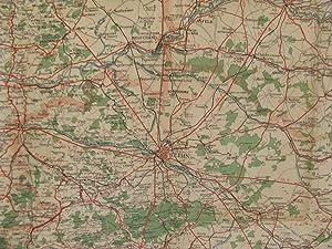 Carte Routiere Pour Automobilistes & Cyclistes Evirons De Paris Section Nord-East Carte Taride ...