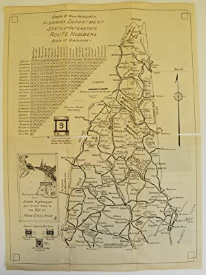State Highway Map of Picturesque New Hampshire: New Hampshire Hotel Association; Hart, Ben J. ...