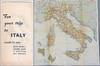 For Your Trip to Italy [Pre-World War II Italy Travel Brochure and Color Map]