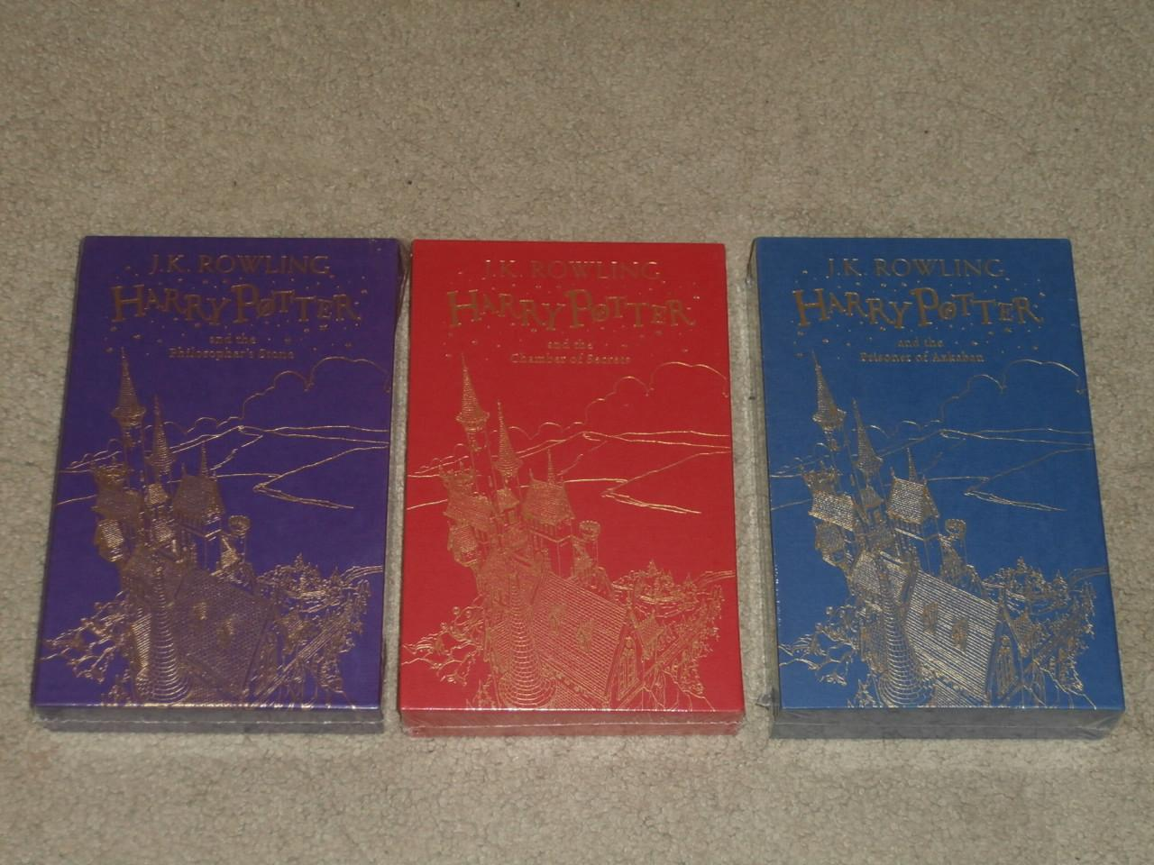 Harry Potter Book Gift Set ~ Harry potter slip cased first edition gift set