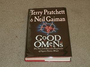 GOOD OMENS: SIGNED UK FIRST EDITION HARDCOVER: Terry Pratchett; Neil