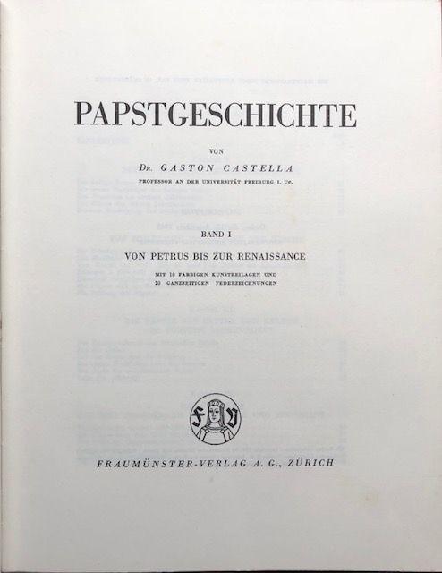 Papstgeschichte.: Castella, Gaston.