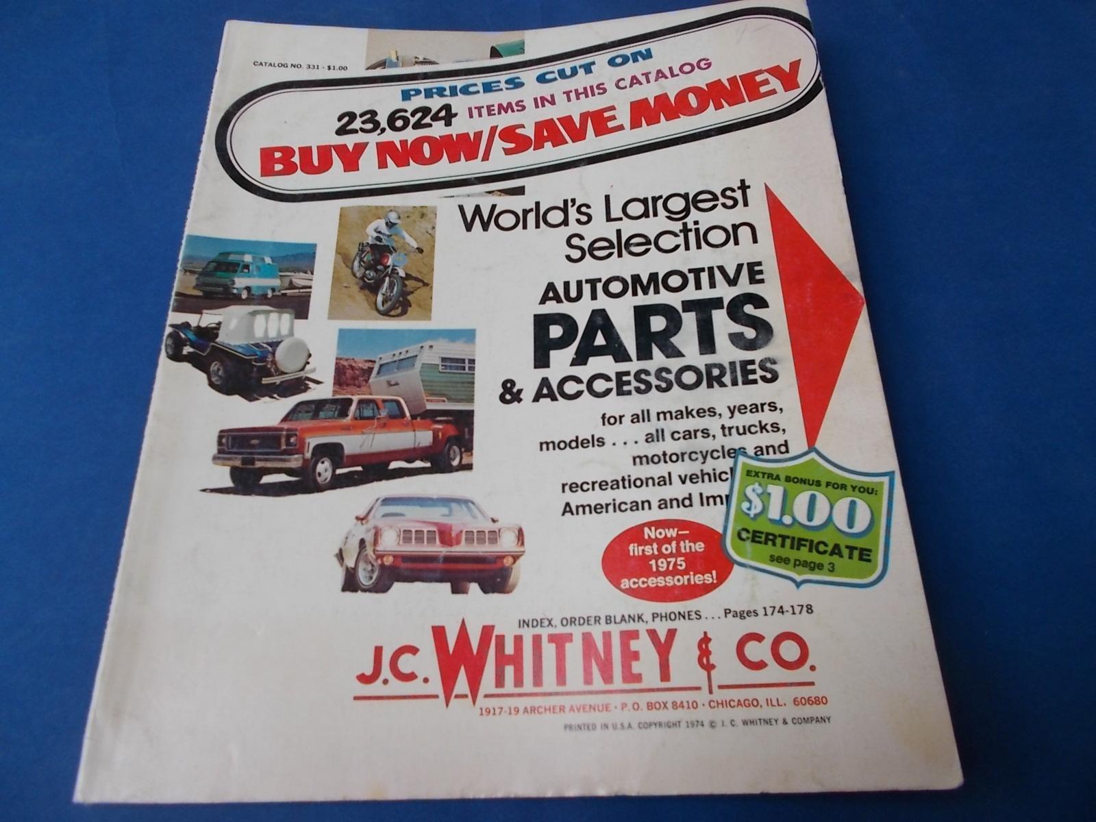 J C Whitney Co Catalog No 331 World S Largest Selection
