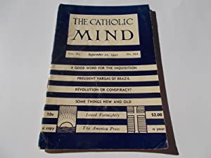 The Catholic Mind (No. 954, September 22, 1942) Digest Magazine: Francis X. Talbot, S.J. (...