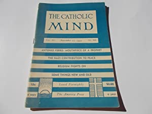 The Catholic Mind (No. 958, November 22, 1942) Digest Magazine: Francis X. Talbot, S.J. (...