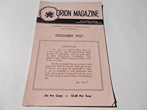 Orion Magazine (December 1957): A Metaphysical Publication Devoted to Genuine Spiritual Knowledge: ...