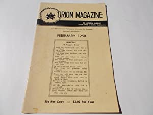 Orion Magazine (February 1958): A Metaphysical Publication: Murphy, Ural R.