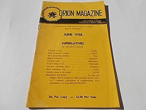 Orion Magazine (June 1958): A Metaphysical Publication: Murphy, Ural R.