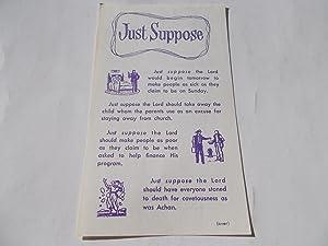 Just Suppose (Tract - Silent Evangelist Number: Faith, Prayer &