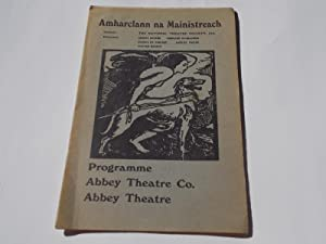 """Abbey Theatre Co. Programme: """"Never the Time and the Place"""" and """"The Irishwoman of ..."""
