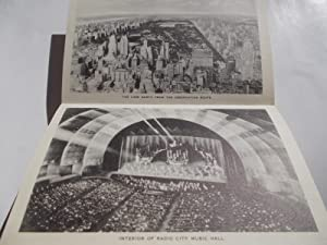 Radio City [Music Hall] Rockefeller Center New York Photos 1930s (With Outer Mailing Folder and 10 ...