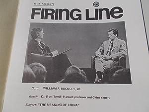 Firing Line Program Transcript (No. 39 1972) William F. Buckley, Jr. (Host) Dr. Ross Terrill (Guest...