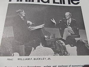 Firing Line Program Transcript (No. 45 1972) William F. Buckley, Jr. (Host) Andreas Papandreou (...