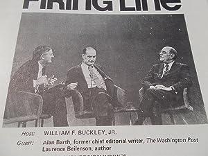Firing Line Program Transcript (No. 51 1972) William F. Buckley, Jr. (Host) Alan Barth and Laurence...