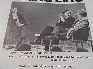 Firing Line Program Transcript (No. 75 1973) William F. Buckley, Jr. (Host) Dr. Thomas E. Bryant ...