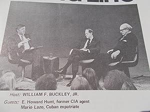 Firing Line Program Transcript (No. 77 1973) William F. Buckley, Jr. (Host) E. Howard Hunt and ...