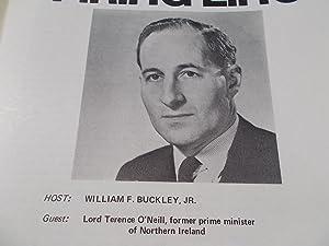Firing Line Program Transcript (No. 84 1973) William F. Buckley, Jr. (Host) Lord Terence O'...