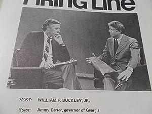 Firing Line Program Transcript (No. 90 1973) William F. Buckley, Jr. (Host) Jimmy Carter (Guest) &...