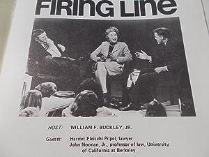 Firing Line Program Transcript (No. 97 1973) William F. Buckley, Jr. (Host) Harriet Fleischl Pilpel...