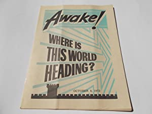 Awake! (October 8, 1973) Single Issue Magazine