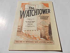 The Watchtower (September 15, 1973): Announcing Jehovah's: Watch Tower Bible