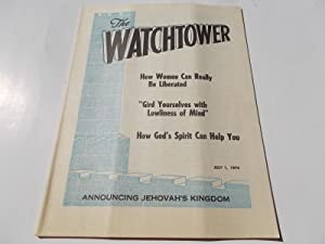 The Watchtower (July 1, 1974): Announcing Jehovah's: Watch Tower Bible