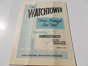 The Watchtower (August 15, 1974): Announcing Jehovah's Kingdom (Single Issue Magazine)