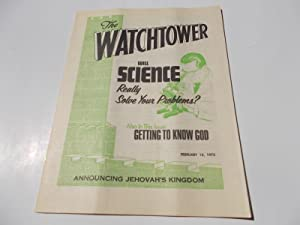 The Watchtower (February 15, 1975): Announcing Jehovah's: Watch Tower Bible