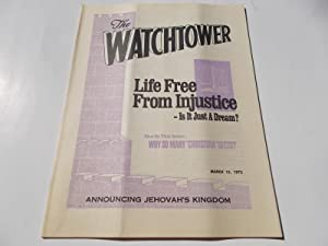 The Watchtower (March 15, 1975): Announcing Jehovah's: Watch Tower Bible
