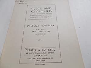 """A Hymne To God The Father: High Voice in G Minor (Sheet Music) (No. 6 From Series """"Voice and ..."""