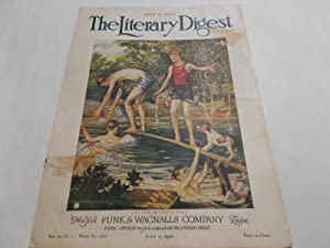 Front Cover Only - The Literary Digest: The Literary Digest