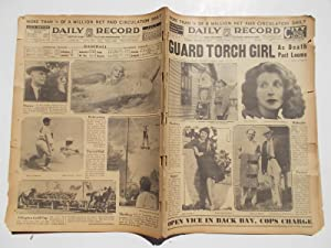 Daily Record (Monday, July 11, 1932): Boston's Home Picture Newspaper (Cover Headline: GUARD ...
