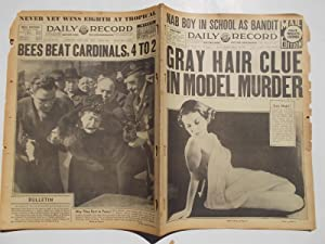 Daily Record (Tuesday, March 30, 1937): Boston's Home Picture Newspaper (Cover Headline: GRAY ...
