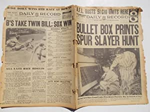 Daily Record (Thursday, July 22, 1937): Boston's Home Picture Newspaper (Cover Headline: ...