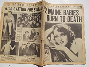 Daily Record (Thursday, February 3, 1938): Boston's Home Picture Newspaper (Cover Headline: 2 ...