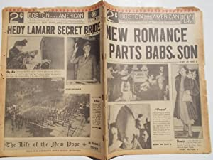 Boston Evening American (Saturday, March 4, 1939) Newspaper (Cover Headline: NEW ROMANCE PARTS BABS...