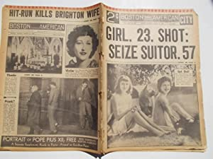 Boston Evening American (Monday, March 6, 1939) Newspaper (Cover Headline: GIRL, 23, SHOT: SEIZE ...