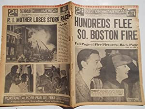 Boston Evening American (Wednesday, March 8, 1939) Newspaper (Cover Headline: HUNDREDS FLEE SO. ...