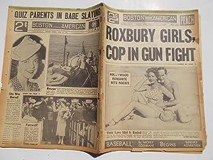 Boston Evening American (Friday, June 16, 1939) Newspaper (Cover Headline: ROXBURY GIRLS, COP IN ...