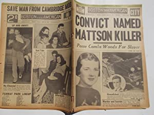 Boston Evening American (Tuesday, June 20, 1939 CITY EDITION) Newspaper (Cover Headline: CONVICT ...