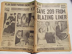 Boston Evening American (Tuesday, July 18, 1939) Newspaper (Cover Headline: SAVE 209 FROM BLAZING ...