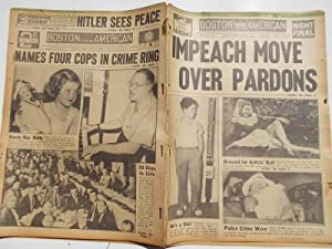 Boston Evening American (Friday, July 21, 1939 NIGHT FINAL EDITION) Newspaper (Cover Headline: ...